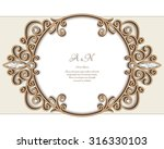 vintage gold jewelry background ... | Shutterstock .eps vector #316330103