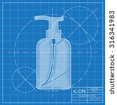 vector blueprint liquid soap... | Shutterstock .eps vector #316341983