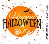happy halloween poster on...   Shutterstock .eps vector #316344623