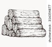 Log Pile Sketch