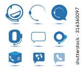 icons for call center or... | Shutterstock .eps vector #316360097