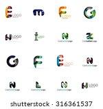 set of new universal company... | Shutterstock . vector #316361537