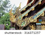 gable apex on the roof of wat... | Shutterstock . vector #316371257