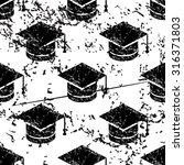 academic cap pattern  grunge ...