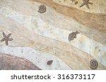 fossil wall texture background | Shutterstock . vector #316373117
