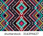 geometric ethnic pattern... | Shutterstock .eps vector #316394627