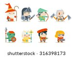 fantasy rpg game character... | Shutterstock .eps vector #316398173