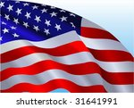 an american flag flowing in the ... | Shutterstock .eps vector #31641991