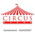 vector icon of circus tent | Shutterstock .eps vector #316420367