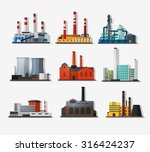 power plant icons in flat style ... | Shutterstock .eps vector #316424237
