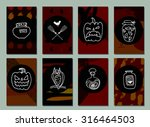 halloween cards. made with ink. ... | Shutterstock .eps vector #316464503