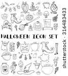 set of halloween icons. hand... | Shutterstock .eps vector #316483433