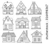 hand drawn house set | Shutterstock .eps vector #316498367