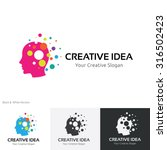 creative idea logo brain logo... | Shutterstock .eps vector #316502423