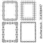 set of 4 rectangular frames in... | Shutterstock . vector #316508447