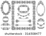 set of 4 frames and 9... | Shutterstock . vector #316508477