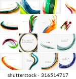 set of abstract backgrounds.... | Shutterstock .eps vector #316514717