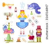 Alice In Wonderland. Fairy Tal...
