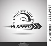 speedometer silhouette.abstract ... | Shutterstock .eps vector #316519997