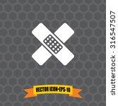 vector icon of bandage on dark...