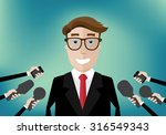 smiling businessman interviewed ... | Shutterstock .eps vector #316549343