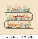 flat design modern vector... | Shutterstock .eps vector #316576403