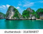 mountain island and lonely... | Shutterstock . vector #316584857