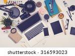 responsive sloppy office desk... | Shutterstock . vector #316593023