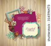 frames   scrapbook elements on... | Shutterstock .eps vector #316596473