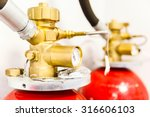 large industrial co2 fire... | Shutterstock . vector #316606103