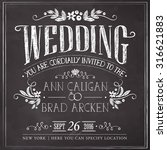 wedding invitation vintage card.... | Shutterstock .eps vector #316621883
