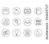 icons set school | Shutterstock .eps vector #316625717