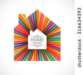 creative house decoration with... | Shutterstock .eps vector #316634393