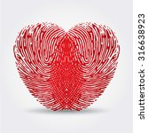 fingerprint heart | Shutterstock .eps vector #316638923