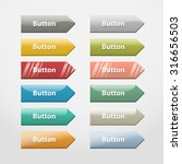 colorful realistic web buttons... | Shutterstock . vector #316656503