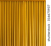 Yellow Curtain With Frame For...