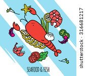 seafood and fish concept... | Shutterstock .eps vector #316681217