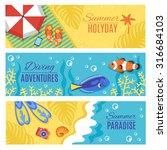 summer paradise holiday... | Shutterstock .eps vector #316684103