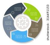 vector round infographic...   Shutterstock .eps vector #316691153