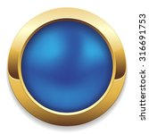 round blue button with gold... | Shutterstock .eps vector #316691753