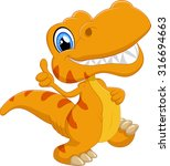 cute dinosaur cartoon | Shutterstock .eps vector #316694663