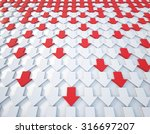 3d rendering red and white... | Shutterstock . vector #316697207