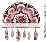 ethnic american indian dream... | Shutterstock .eps vector #316701047