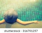 woman in swimming pool  ... | Shutterstock . vector #316701257