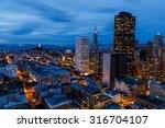 san francisco cityscape and bay ...   Shutterstock . vector #316704107