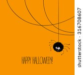 funny halloween greeting card... | Shutterstock .eps vector #316708607