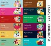 business   marketing banner | Shutterstock .eps vector #316714997