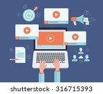 business on line video... | Shutterstock .eps vector #316715393