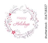 happy holidays greeting card.... | Shutterstock .eps vector #316718327