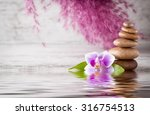 from spa stones make balances... | Shutterstock . vector #316754513
